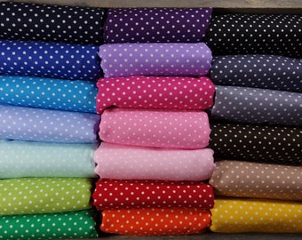 Cotton fabric dotted dots dots, large color selection