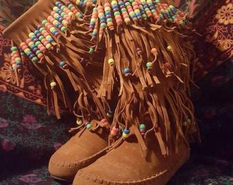 103837dcb23 Rainbow Dancer Gypsy Shag Boots