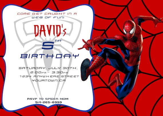 graphic about Printable Spiderman Invitations named Spiderman Invite, Spiderman Birthday Invitation, Spiderman Invitation, Printable Spiderman, Spiderman Social gathering, Surprise Spiderman Birthday