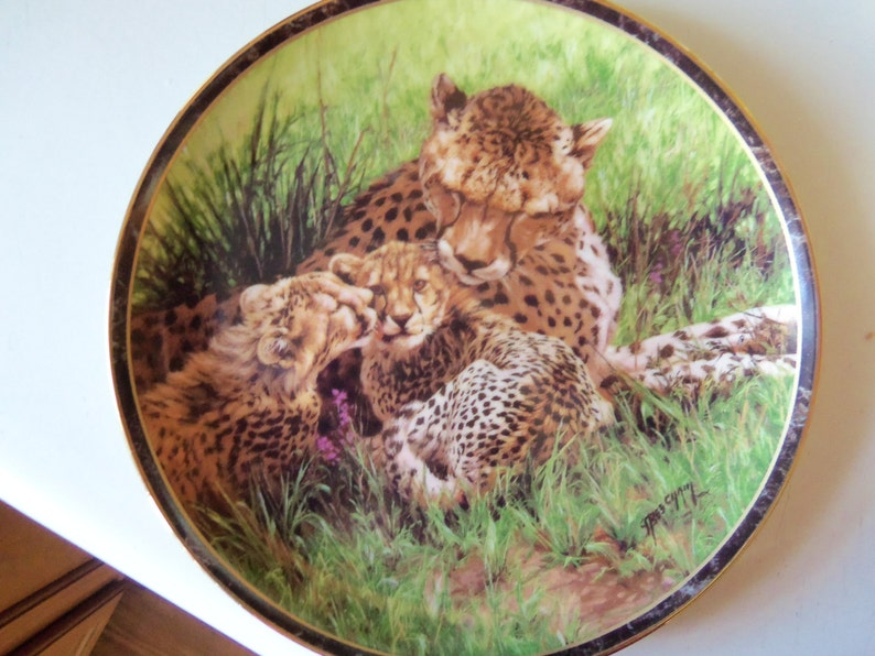 Nature/'s Caress Collection fifth issue circa 1996 Bradford Exchange Collector Plate LIMITED EDITION Warm Embrace by Artist Greg Beecham