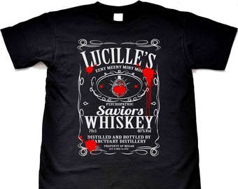 Lucille's Whiskey Property Of Negan T-Shirt - The Walking Dead Inspired Tee Shirt