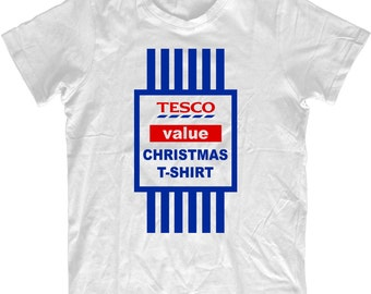 3a61b46a5 Christmas T-shirt Gift Funny Tesco Value Xmas Tshirt Mens And Ladies Present  2015 Santa Reindeer Elf Snowman Christmas Top