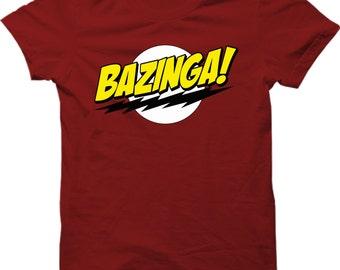 9e5662c3 BAZINGA Popular Tv Show T Shirt Sheldon Cooper Funny Mens Gift Shirt Smart T -shirt