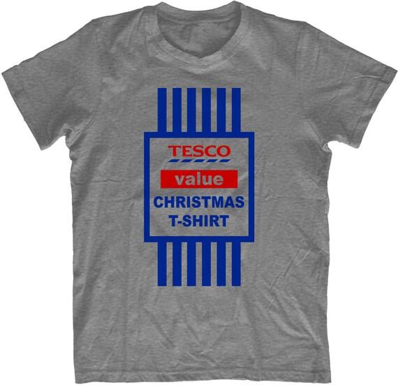 Tesco Value  Xmas Present  Christmas Funny Mens T Shirt Santa Snowman Reindeer