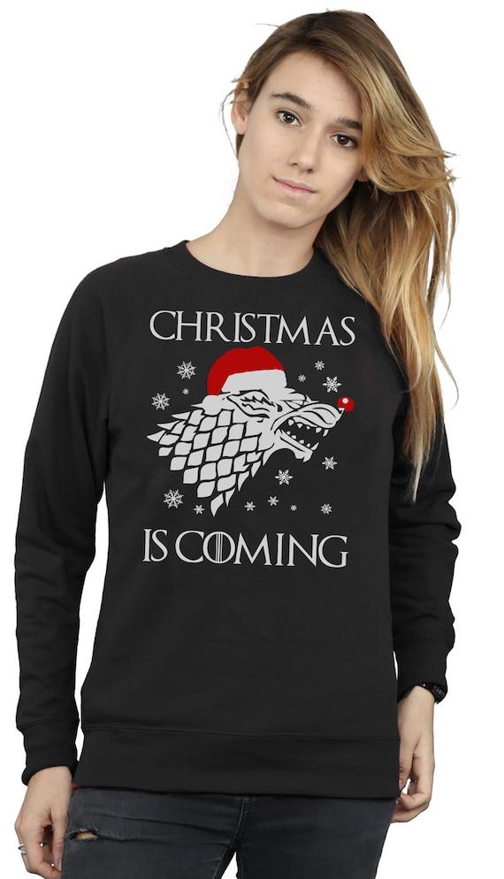 Christmas Jumper Walken In A Winter Wonderland Men/'s Grey Sweater