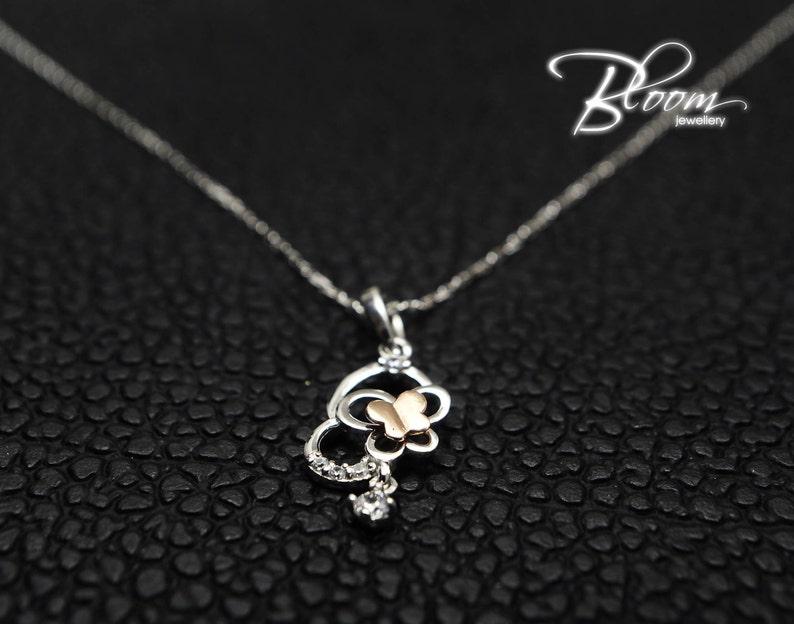 Bloom Jewellery Minimalist Gold Necklace 14K Solid Gold Necklace Thin Gold Necklace Delicate Pendant Necklace
