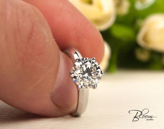 2Ct Enement Ring | 201 Ct Zwei Karat Diamant Ring Gia Zertifikat Diamant Ring Etsy