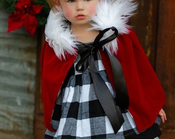 eac959da4b3d Cindy Lou Bundle - Girl's Christmas outfit, buffalo plaid outfit, plaid  dress, cindy lou who costume, Halloween costume, Christmas dress