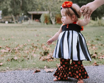 0799e9e018deb Hazel Bundle Baby girl Halloween outfit toddler girl | Etsy