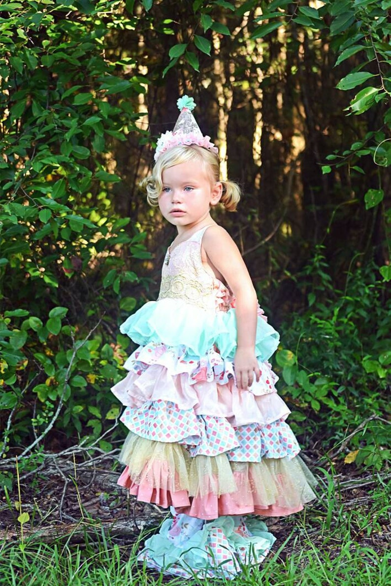 374848f9fd68 Karleigh Ruffle Dress Easter Dress Tea party dress Pink and | Etsy