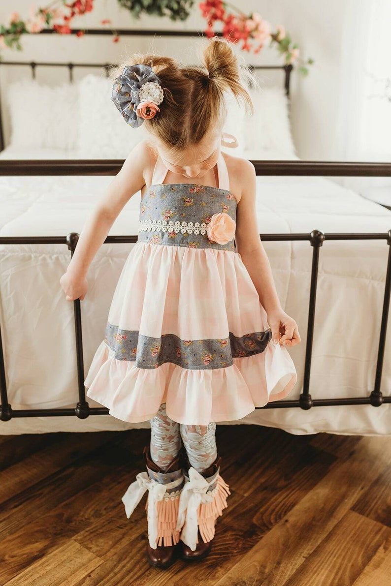 6c2d3a9eaaab Savannah Girl's Easter dress cowgirl dress toddler | Etsy