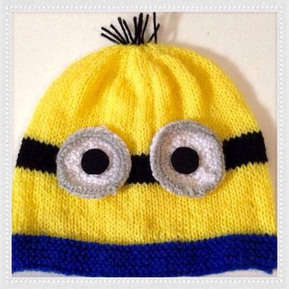 Minion Hat Knitting Pattern  1093b2b3259