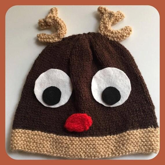 Reindeer Hat Knitting Pattern Etsy