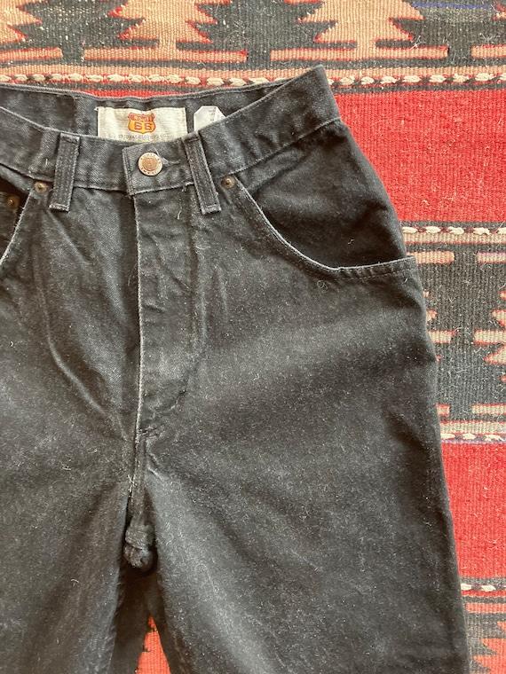 Vintage 1990s Route 66 Black High Rise Jeans
