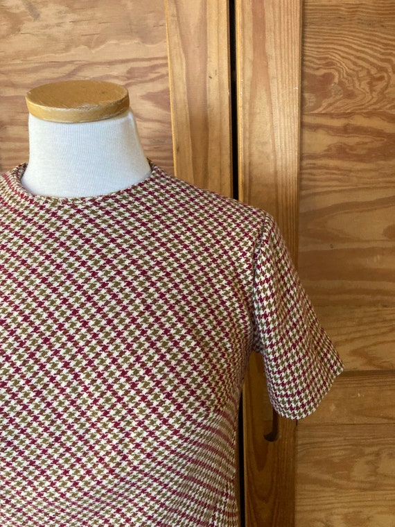 Vintage 1950s Houndstooth Dress