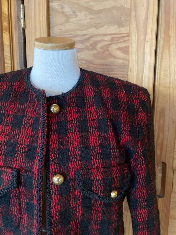 Vintage Red Plaid Blazer