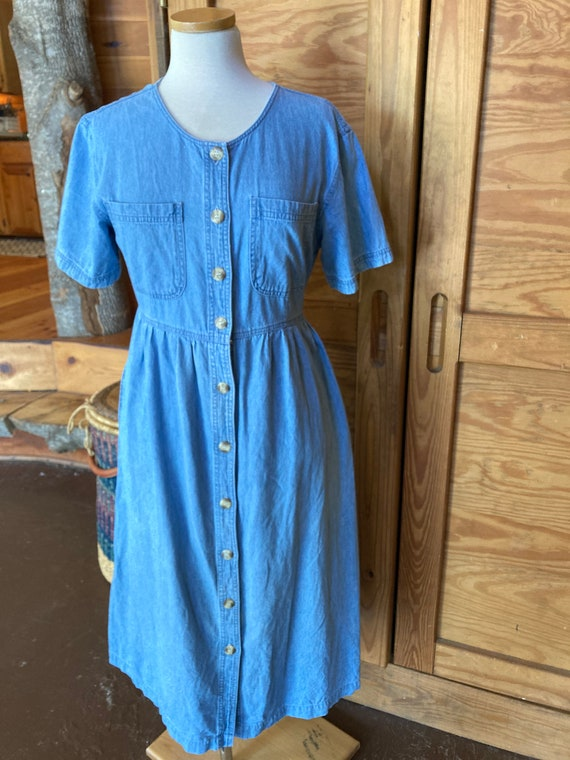 Vintage 1990s Iconic Denim Dress