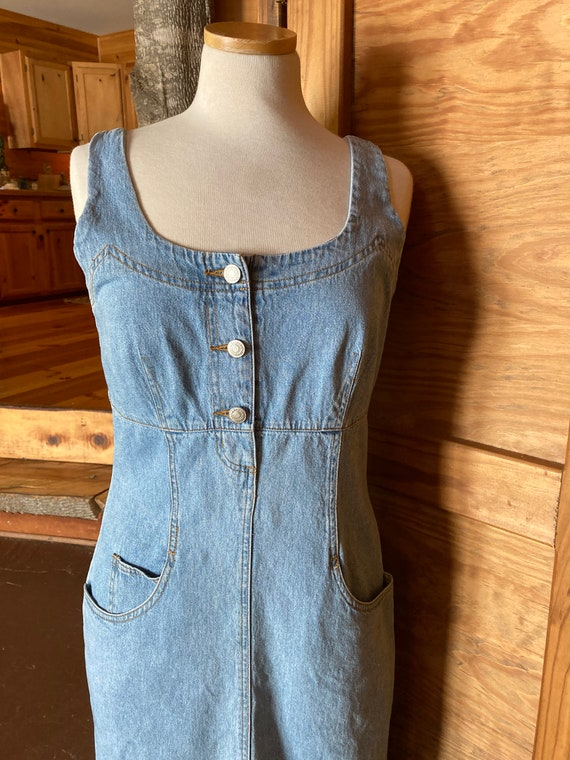 Vintage 90s Denim Maxi Dress