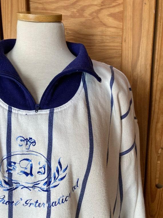 Vintage 1980s Adidas Cropped Sweatshirt