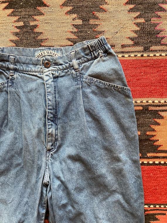 Vintage 1980s Pleated Blue Willis Jeans