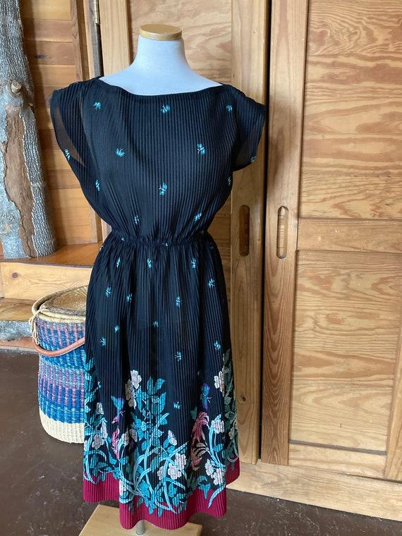Vintage 1970s Sheer Maxi Dress