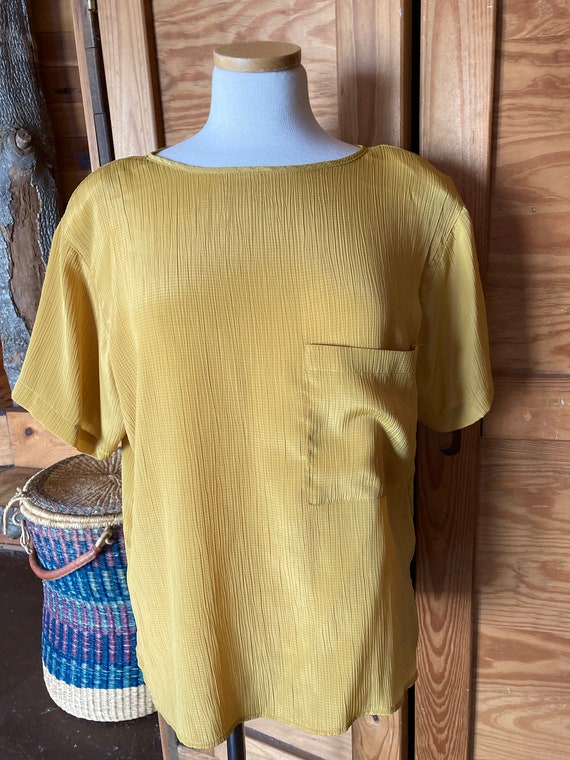 Vintage 1980s Gold Blouse