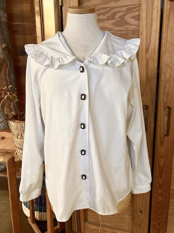 Vintage 1980s Cotton Blouse