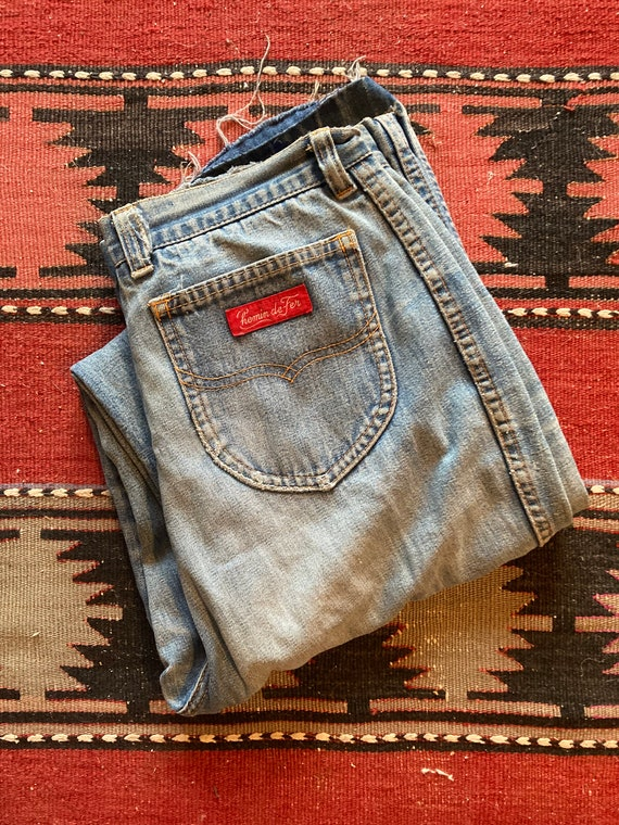 Vintage 1970s Chemin De Fer Ultra High Rise Jeans