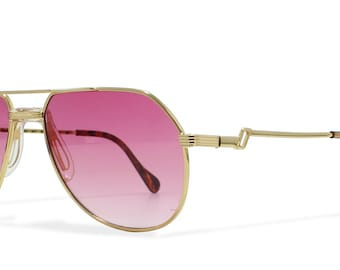 0fd8184490 Hilton Exclusive 04 604 Gold Vintage Sunglasses Aviator For Men and Women