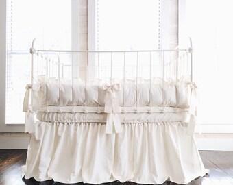 Ivory Crib Skirt | Etsy