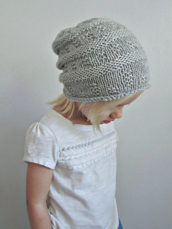 Wool Slouchy Hat Hand Knit Infant Toddler Child   Adult  20cb132e8