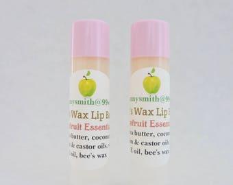 Sweet Bee's Wax Natural Lip Balm, Grapefruit Essential Oil, Coconut Oil Lip Balm / 2 - 0.15 oz. tubes