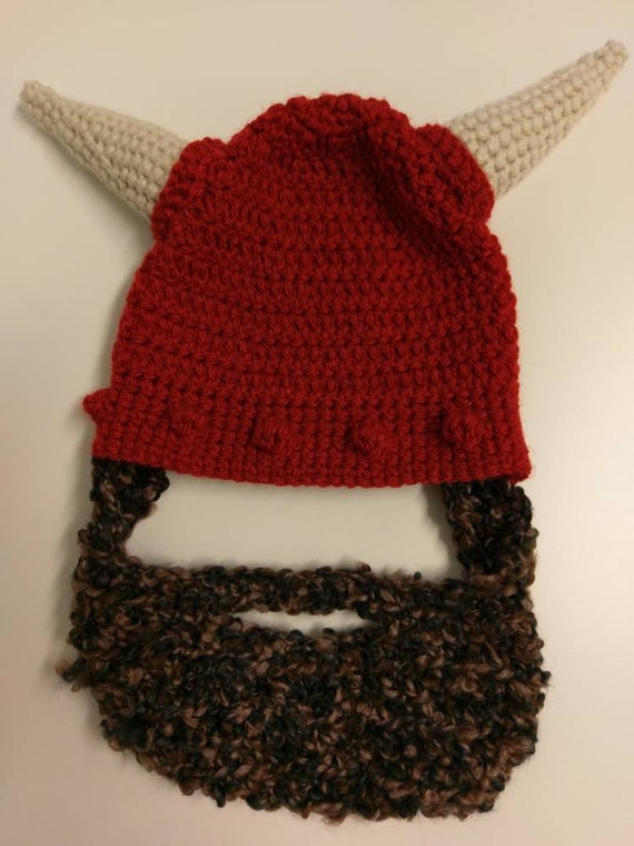 7a808f22d1f Made to order  Crochet Viking Bearded Hat
