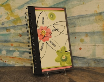 Handcrafted Junk Journal, Altered Book, Recycled Book, Upcycled Journal, Valentine's Day Gift, Hugs and Kisses Journal, Handmade Journal