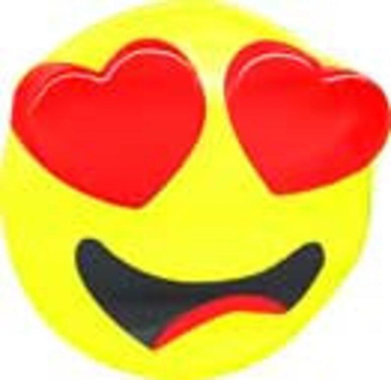 Heart Eyes In Love Emoji Chocolate Mold - FREE U S A SHIPPING (90-99700)  iphone samsung texting