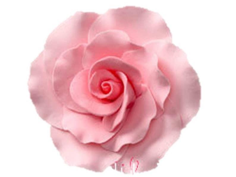 Formal Rose Pink Flower Gumpaste Set of 3 Flowers 2