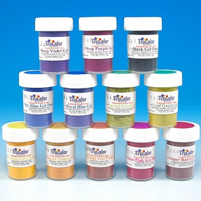 Yellow TruColor Natural Food Color Powder 8 grams- Kosher All Natural Food  Coloring Tru Color trucolor