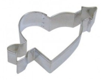 """Cupid's Heart w Arros 4.25"""" Cookie Cutter - Valentines Love Valentine's Day"""