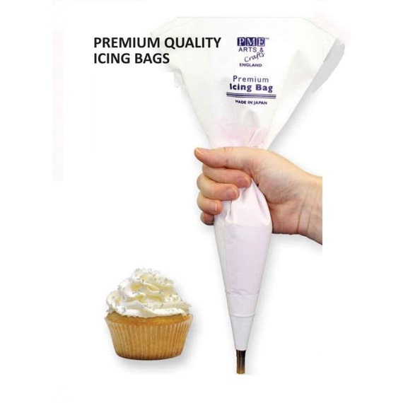2-Pack Medium Reusable Washable White Dessert Icing Frosting Pastry Piping Bags