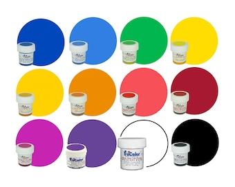 TruColor Set (Basics Kit) 12 PK NATURAL Food Color Powder 6-10g ea. - Kosher