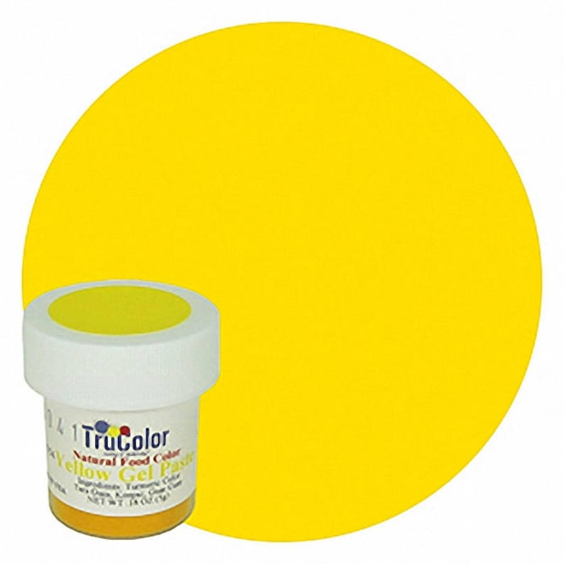 Yellow TruColor Natural Food Color Powder 8 grams- Kosher All Natural Food  Coloring Tru Color trucolor