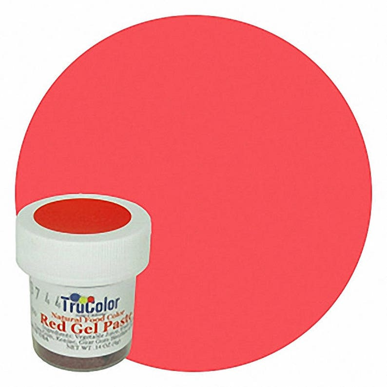 RED TruColor Natural Food Color Powder 9 grams- Kosher All Natural Food  Coloring Tru Color trucolor
