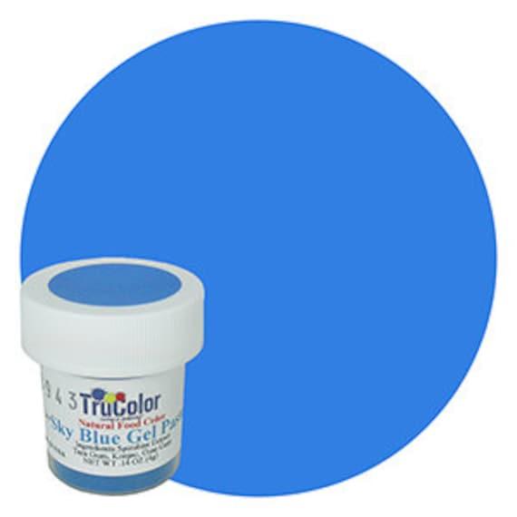 NEW BIGGER BOTTLE Sky Blue TruColor Natural Food Color Powder 0.25 ...