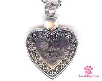Pet Cremation Jewelry,Pet Loss Cremation Jewelry,Pet Cremation, Pet Ashes, Dog Loss Keepsake Necklace ,Paws on Heart Urn, Dog Ashes Necklace