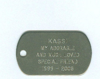 Pet Collar ID, Engraved Dog Tags, Engraved Dog Tag, Stainless Steel, Engraved Brass Dog Tag, Pet Name Tag, Dog Collar ID, Id Tag for Dogs