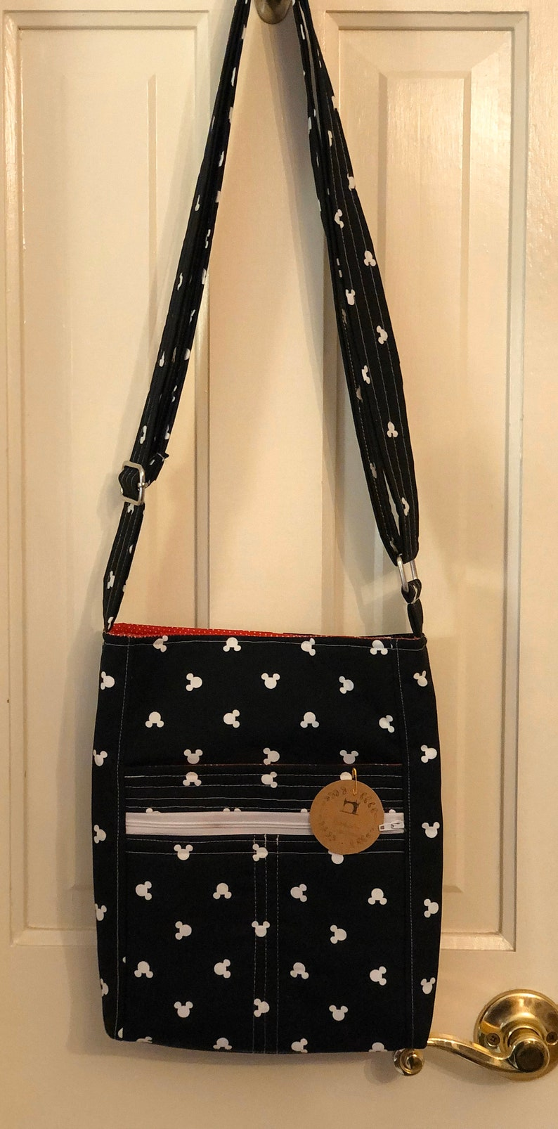 Handmade Crossbody Everyday Bag Disney Tote with Zipper Mickey  Gift  Travel Shoulder Bag On the Go Gift for Her Limited