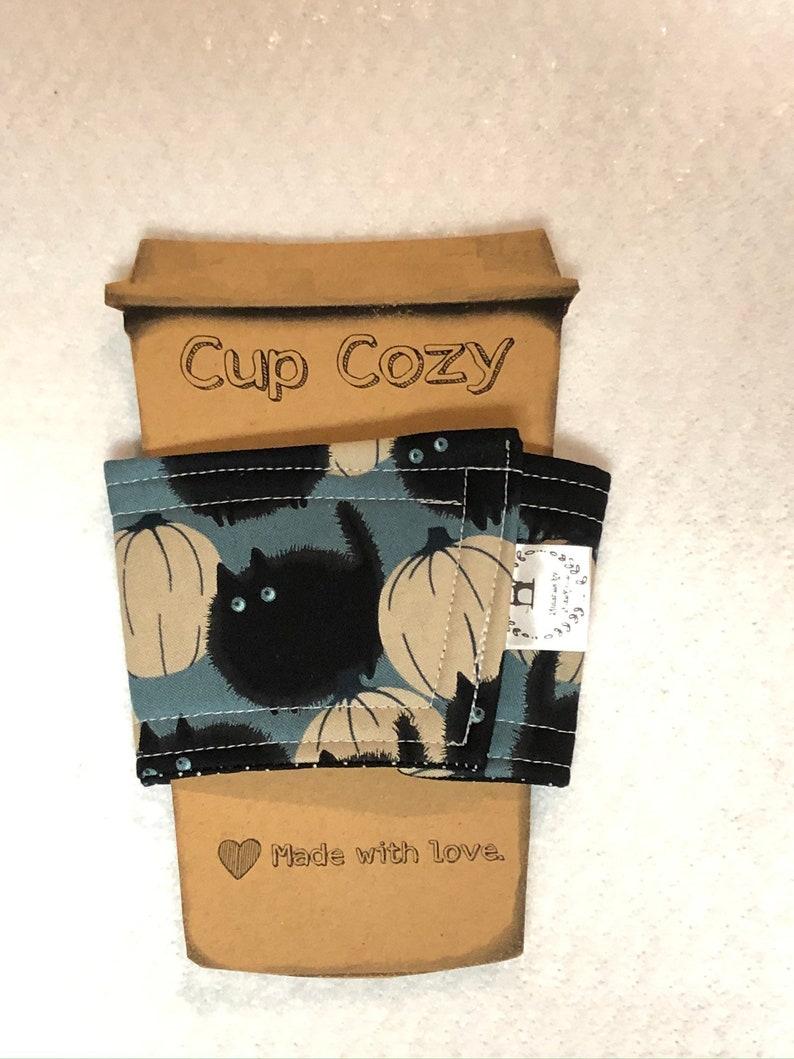 Fortune Card Coffee Sleeve Tea Cozy Birthday Housewarming  Co Snoopy Halloween  Fall  Cup Cozy black cat Handmade Get Well