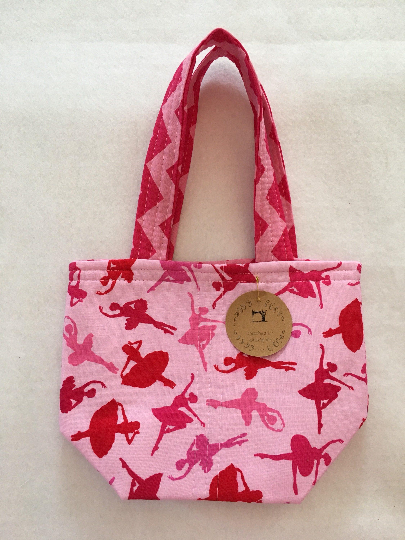 Mini Tote Craft Bag Crochet Kinit Flower Girl Gift For Her