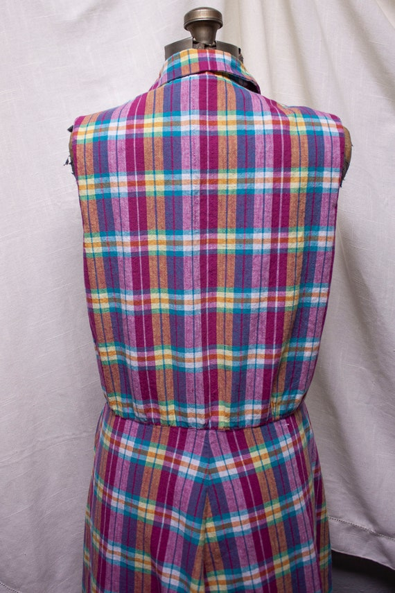 Pink Plaid Picnic Swing Dress - image 7