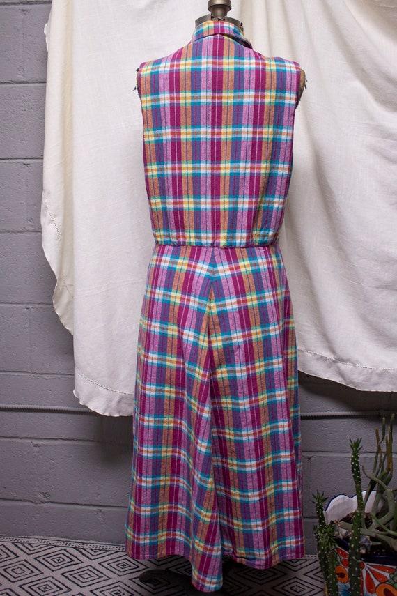 Pink Plaid Picnic Swing Dress - image 6